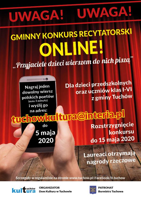 Gminny Konkurs Recytatorski online trwa!