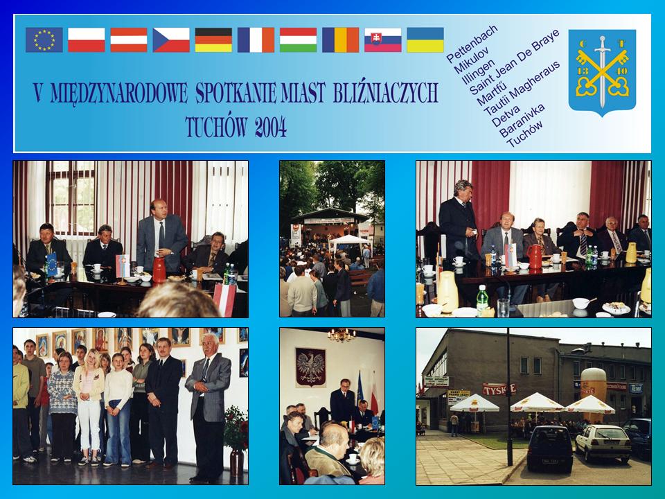 """V Międzynarodowe Spotkanie Miast Bliźniaczych pn. """"Źródła, korzenie rozdroża w kulturze narodów Europy"""" – 4-7 czerwca 2004 roku"""