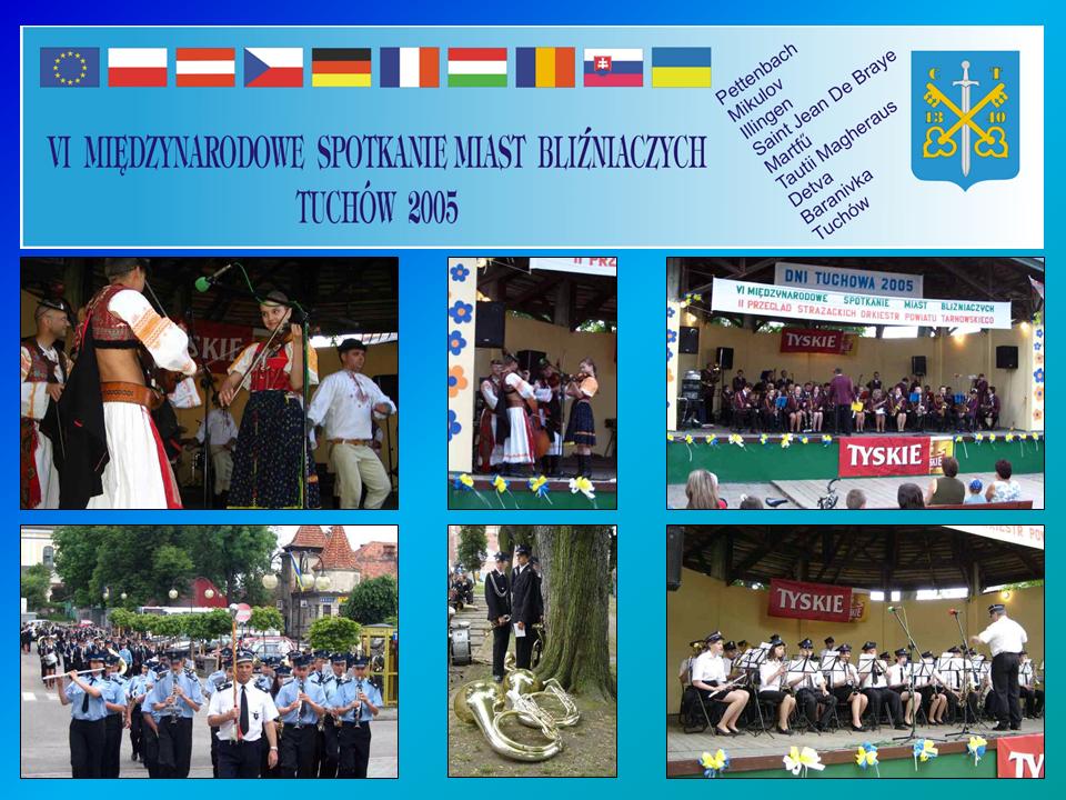 """VI Międzynarodowe Spotkanie Miast Bliźniaczych pn. """"Pokolenia w kulturze narodów Europy cz. I"""" – 3-6 czerwca 2005 roku"""