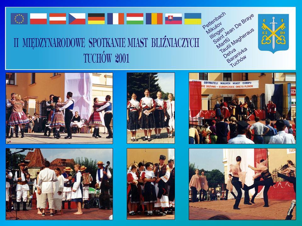 """II Międzynarodowe Spotkanie Miast Bliźniaczych pn. """"Forum Obywateli z Małych Miast i Gmin Europy"""" – 23-25 sierpnia 2001 roku"""