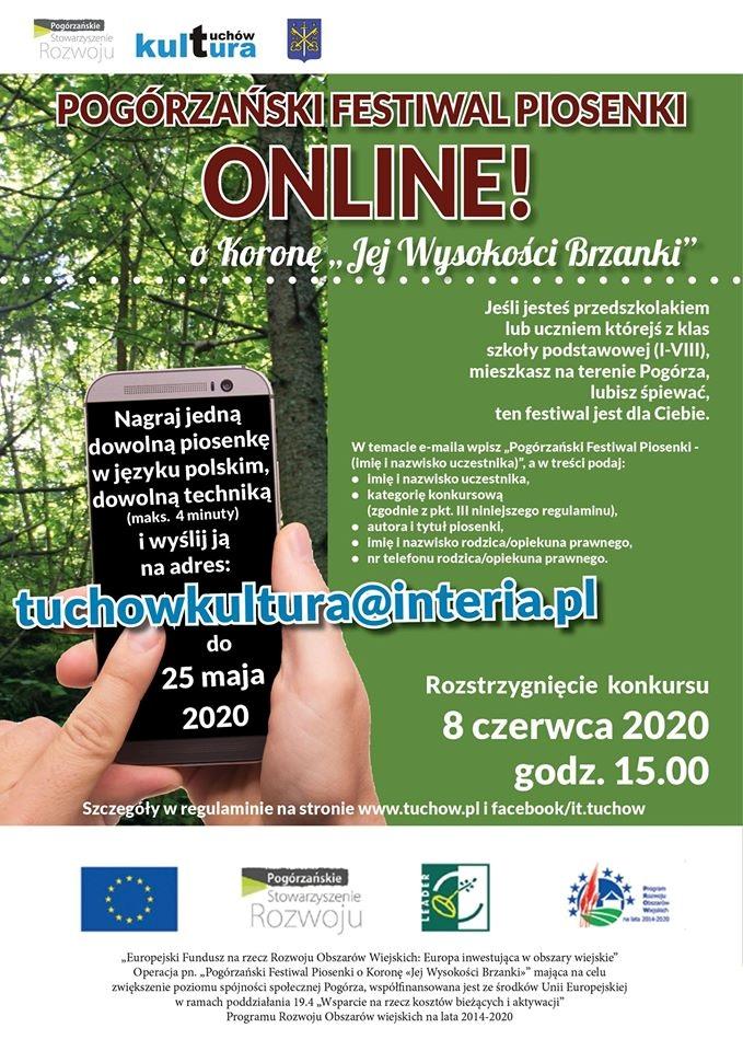 """Pogórzański Festiwal Piosenki online! o Koronę """"Jej wysokości Brzanki"""""""