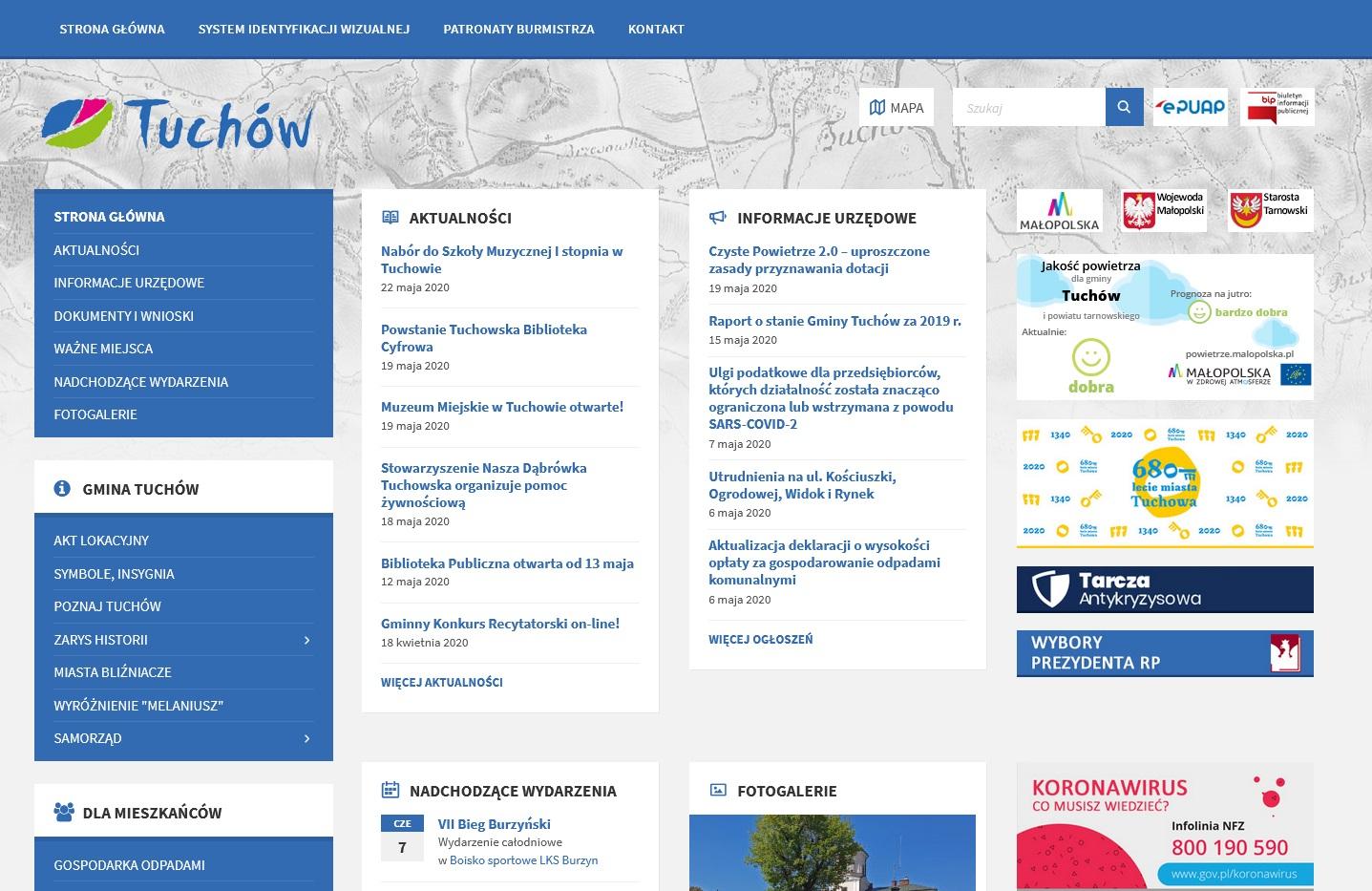 NOWA STRONA TUCHOWA – www.tuchow.pl
