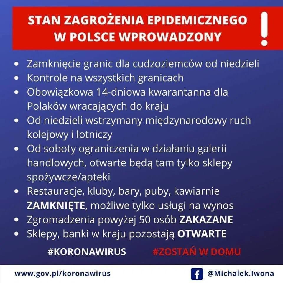 Stan zagrożenia epidemicznego w Polsce!