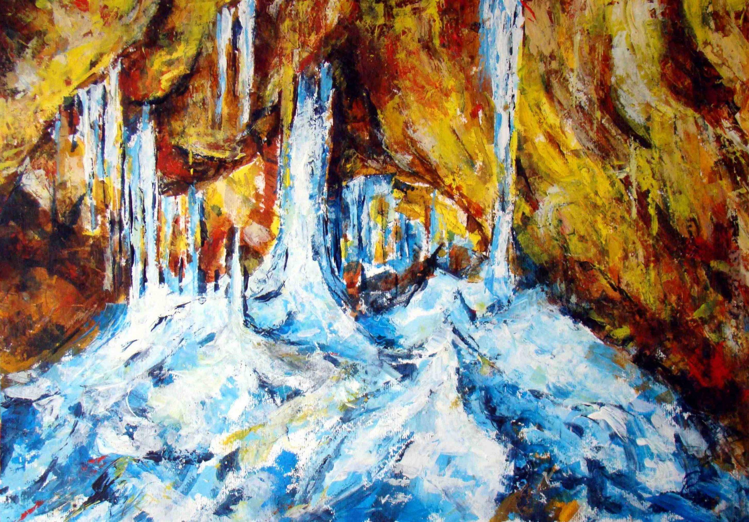 Niezwykłe jaskinie w obrazach Lucji Radwan