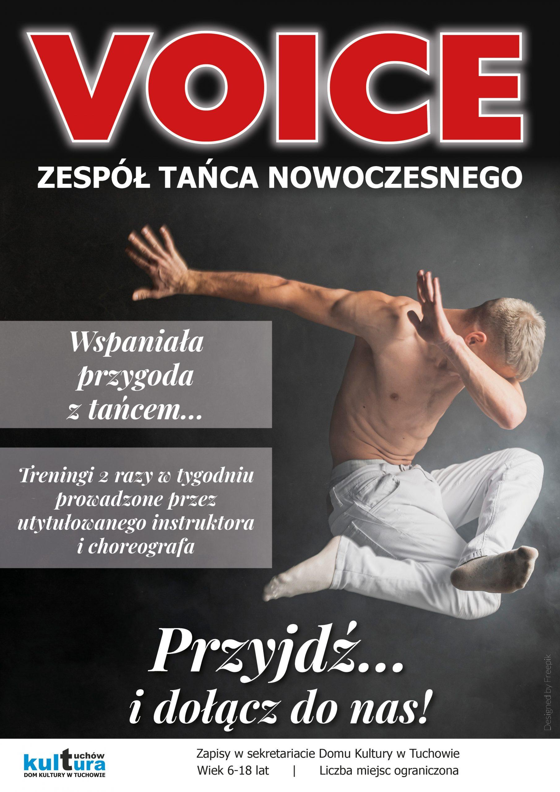 Dom Kultury w Tuchowie ogłasza nabór do zespołu tańca nowoczesnego VOICE!
