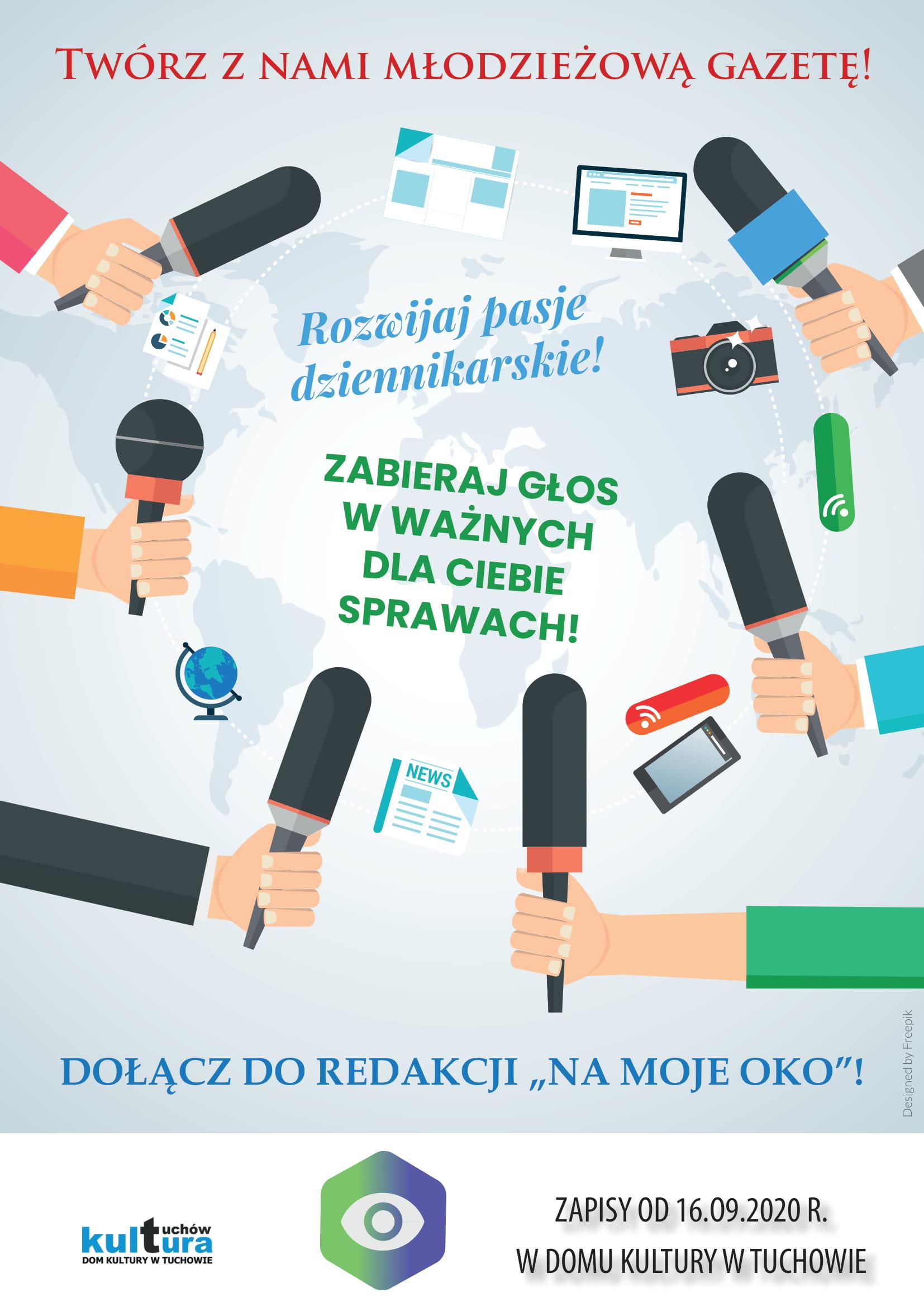 """Zabierz głos w ważnych dla Ciebie sprawach i rozwijaj swoje pasje dziennikarskie! Dołącz do redakcji """"Na moje oko""""!"""