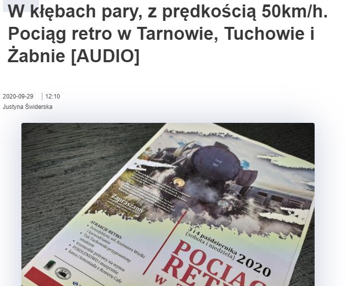 Radio ESKA o pociągu retro w Tuchowie!