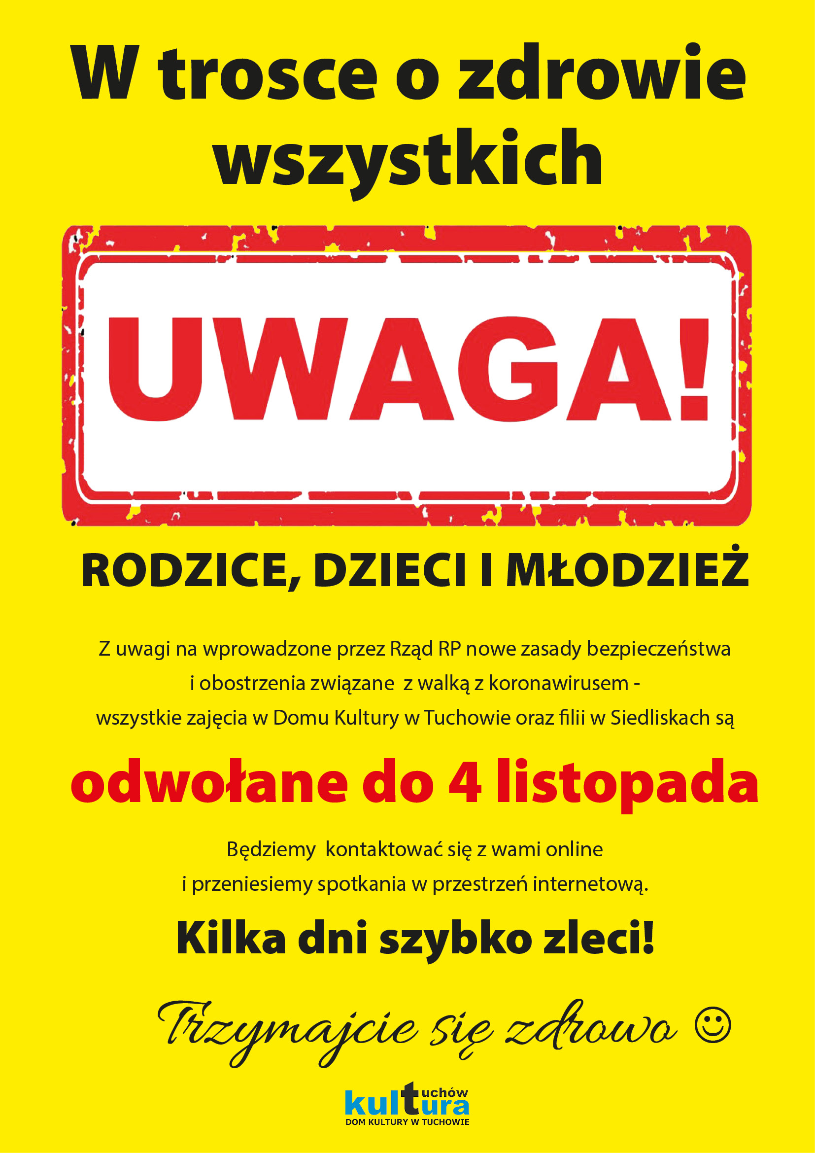 UWAGA!!! Odwołane zajęcia!