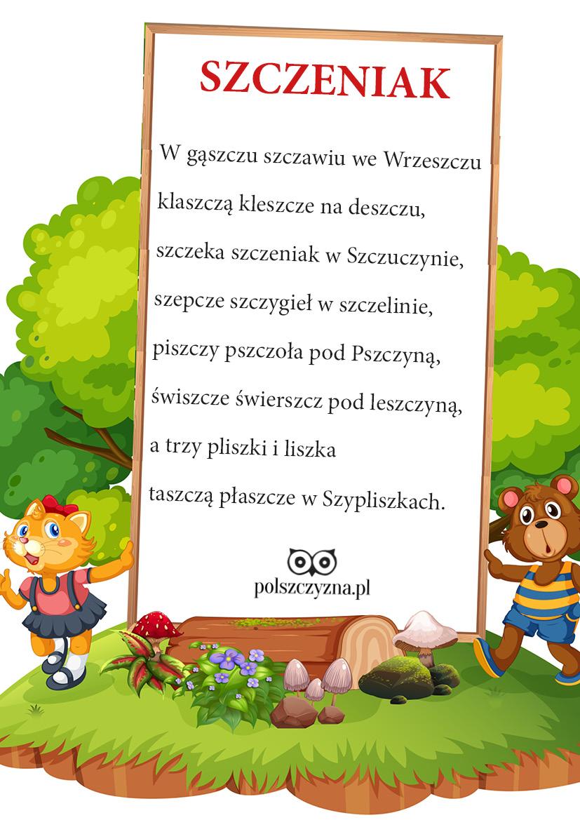 """Prezentujemy wiersz Małgorzaty Strzałkowskiej pt. """"Szczeniak"""", zachęcając do ćwiczenia pięknej wymowy! Dobrej zabawy!!!"""