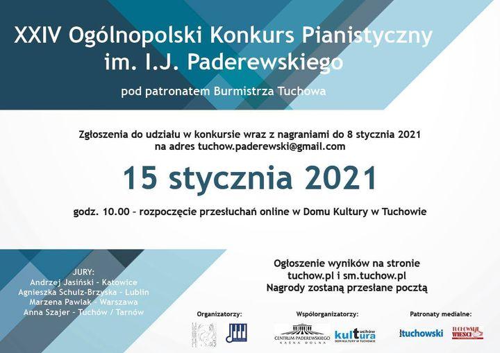 Już 15 stycznia Ogólnopolski Konkurs Pianistyczny im. I.J. Paderewskiego