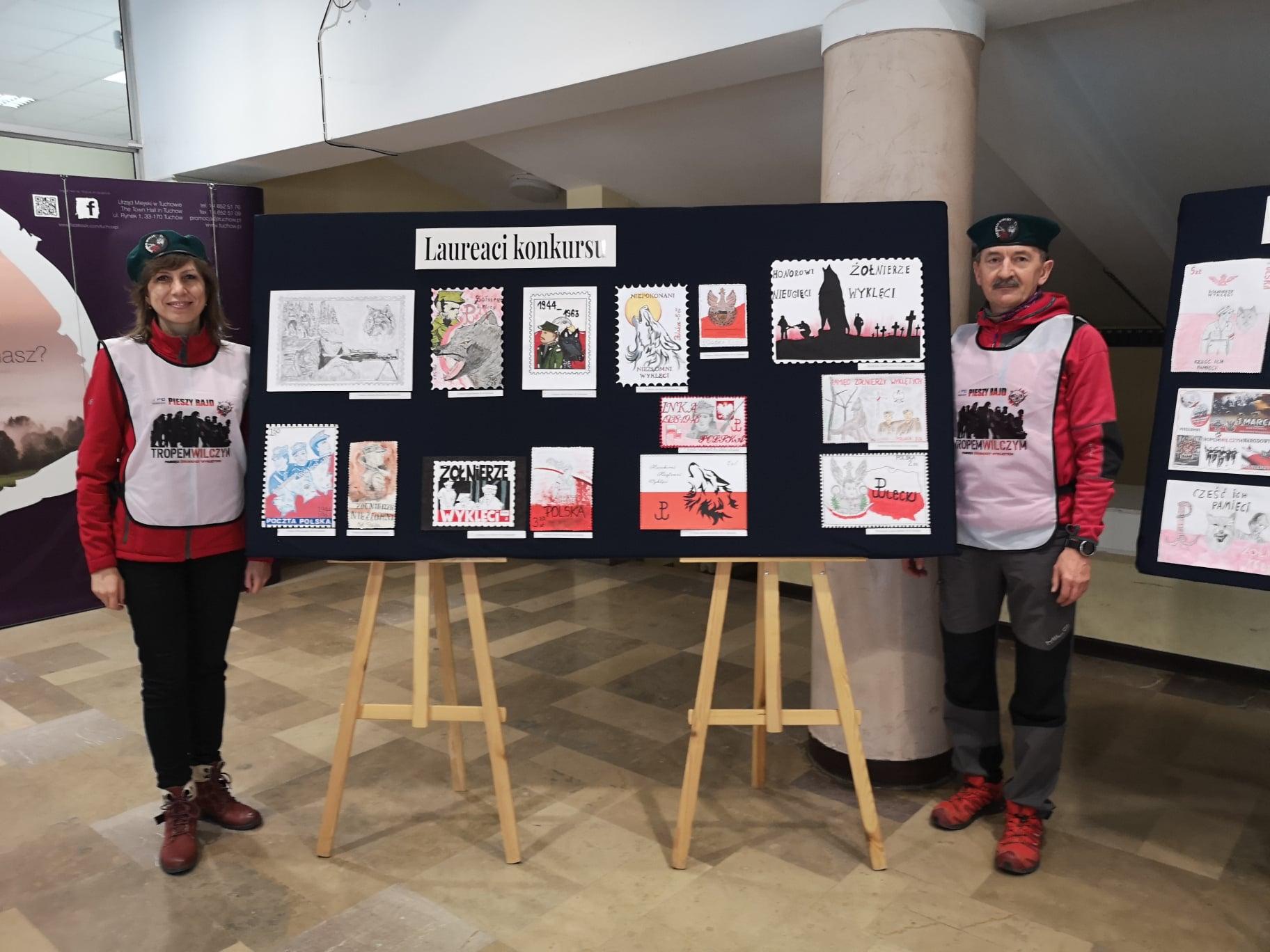 Wystawa pokonkursowa na projekt znaczka pocztowego Żołnierze Wyklęci