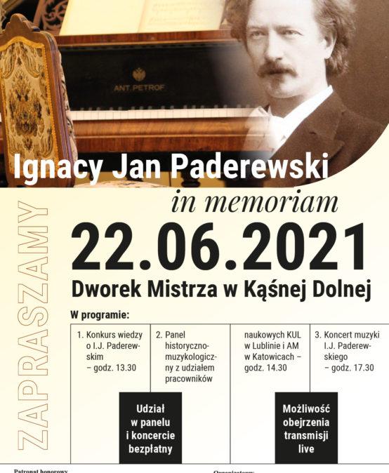 Ignacy Jan Paderewski in memoriam