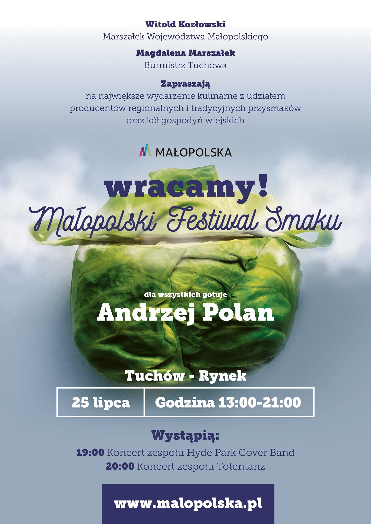 Małopolski Festiwal Smaku – Rynek w Tuchowie, 25.07. 2021, start godzina 13:00