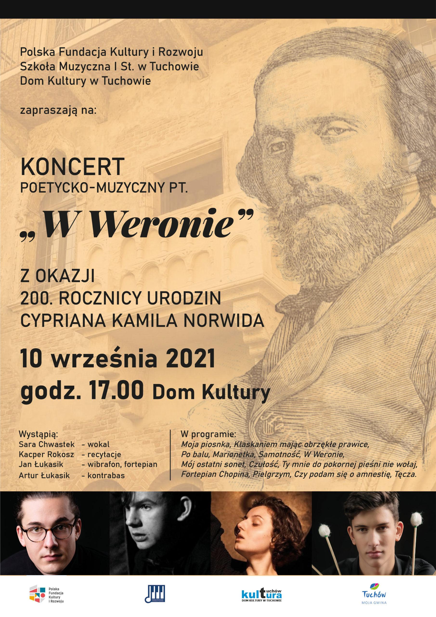 """Koncert poetycko-muzyczny pt. """"W Weronie"""""""