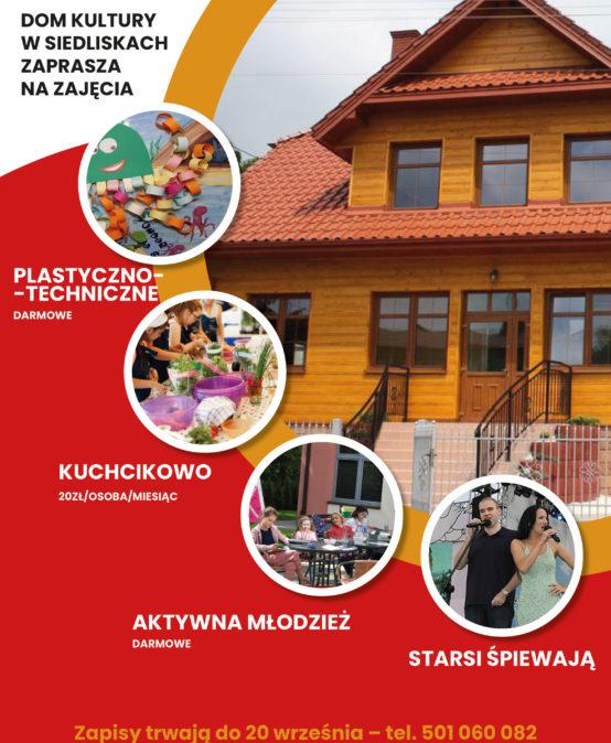 Zajęcia w Domu Kultury w Siedliskach