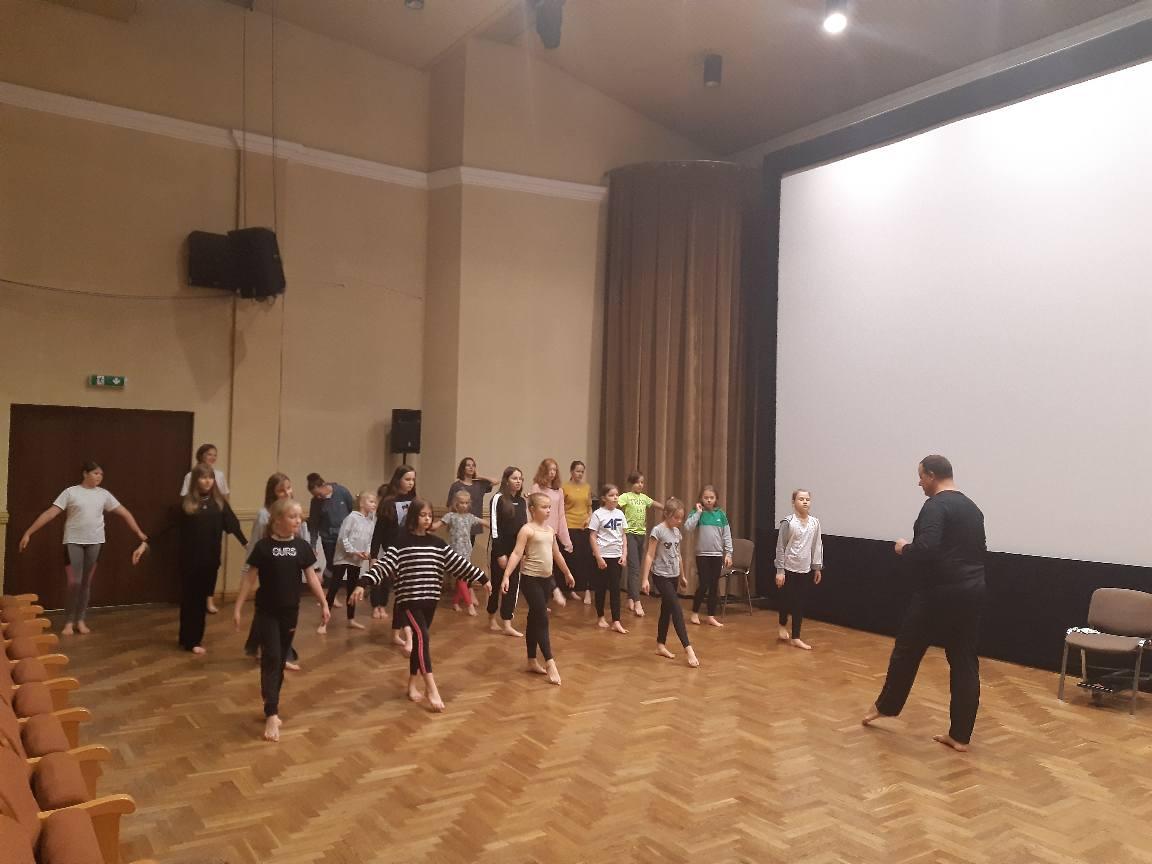 Kolejne zajęcia taneczne zespołu VOICE